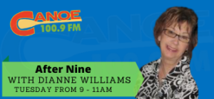 """After Nine – Dianne Williams (""""Home Help"""" with Mike Rahme, last Tuesday of every month 9:30-11am.)"""