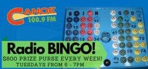 Radio BINGO – $800 Prize Purse Every Week