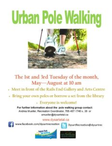 Urban Pole Walking @ Rails End Gallery | Haliburton | Ontario | Canada