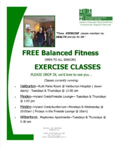 Free Balanced Fitness & Exercise Classes for Seniors -Minden (Mondays & Wednesday) @ Hyland Crest Auditorium | Minden | Ontario | Canada