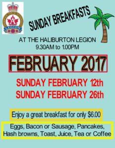 Breakfast at the Haliburton Legion @ Royal Canadian Legion Branch 129 Haliubrton | Haliburton | Ontario | Canada