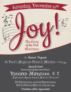 JOY:  The Story of the First Christmas @ St. Paul's Anglican Church, | Minden | Ontario | Canada