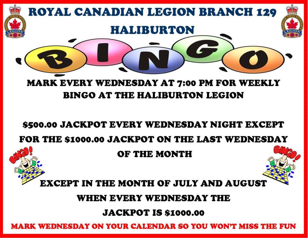 Haliburton Legion Bingo @ Royal Canadian Legion Branch 129 | Haliburton | Ontario | Canada