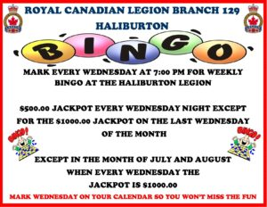 Haliburton Legion Bingo @ Royal Canadian Legion Branch 129 | Haliburton | Ontario | Canada