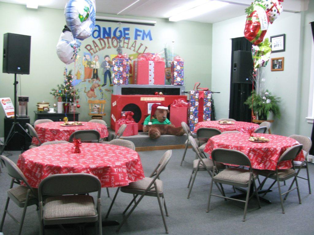 Canoe FM fairies decorated Radio Hall for the Canoe FM Volunteer Christmas Luncheon