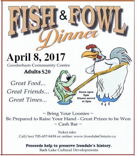 Fish 'N Fowl Dinner @ Gooderham Community Centre | Gooderham | Ontario | Canada