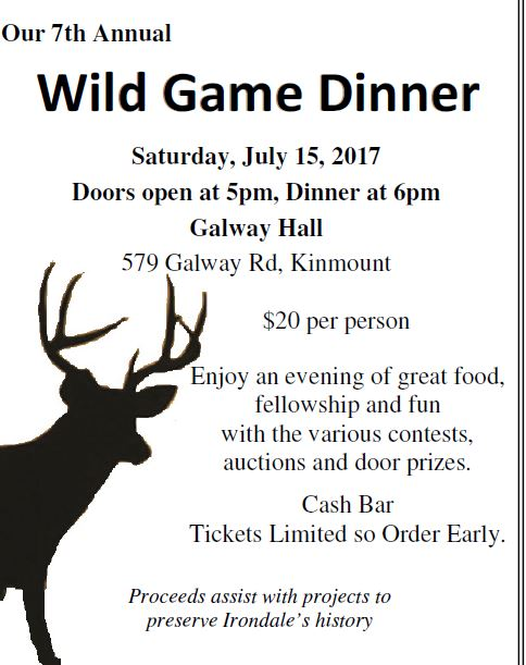 Wild Game Dinner @ Galway Hall | Kinmount | Ontario | Canada