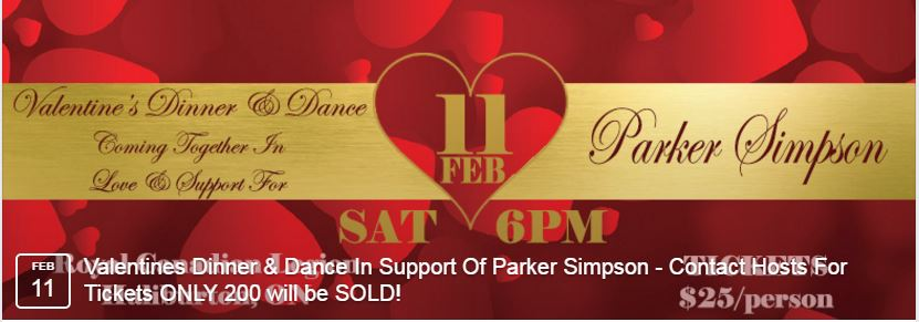 Valentine's Dinner & Dance Coming together fundraiser to support Parker Simpson @ Minden Hills Community Centre | Minden | Ontario | Canada