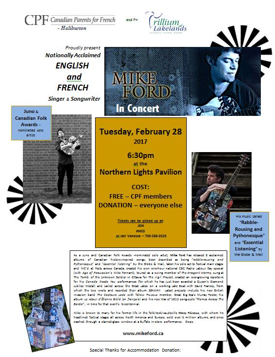 Mike Ford in Concert and the Northern Lights Pavilion @ Northern Lights Performing Arts Pavilion | Ontario | Canada
