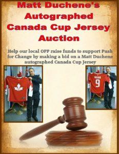 Matt Duchene autographed Canada Cup Jersey Auction