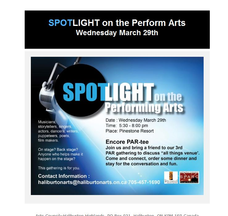 Spotlight on the Performing Arts at Pinestone @ Pinestone Resort | Haliburton | Ontario | Canada