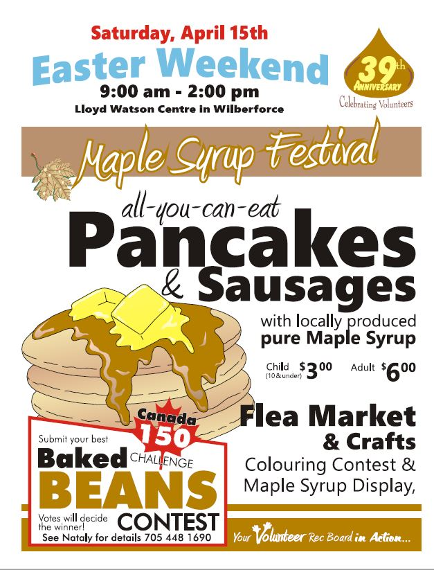 Maple Syrup Festival at Wilberforce @ Lloyd Watson Community Centre | Wilberforce | Ontario | Canada