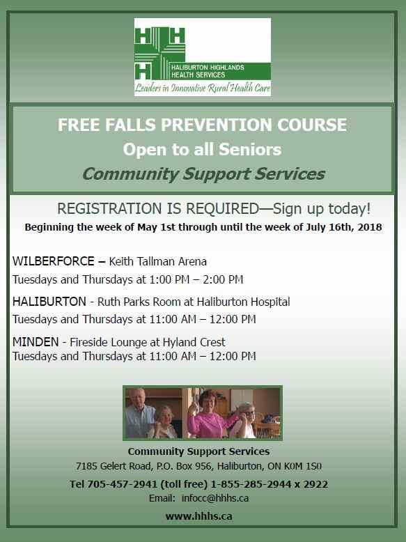 Free Falls Prevention Course in Wilberforce @ Keith Tallman Arena | Wilberforce | Ontario | Canada