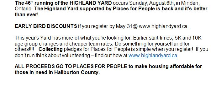 46th Running of the Highland Yard in Minden supported by Places for People @ Minden, ON | Minden | Ontario | Canada