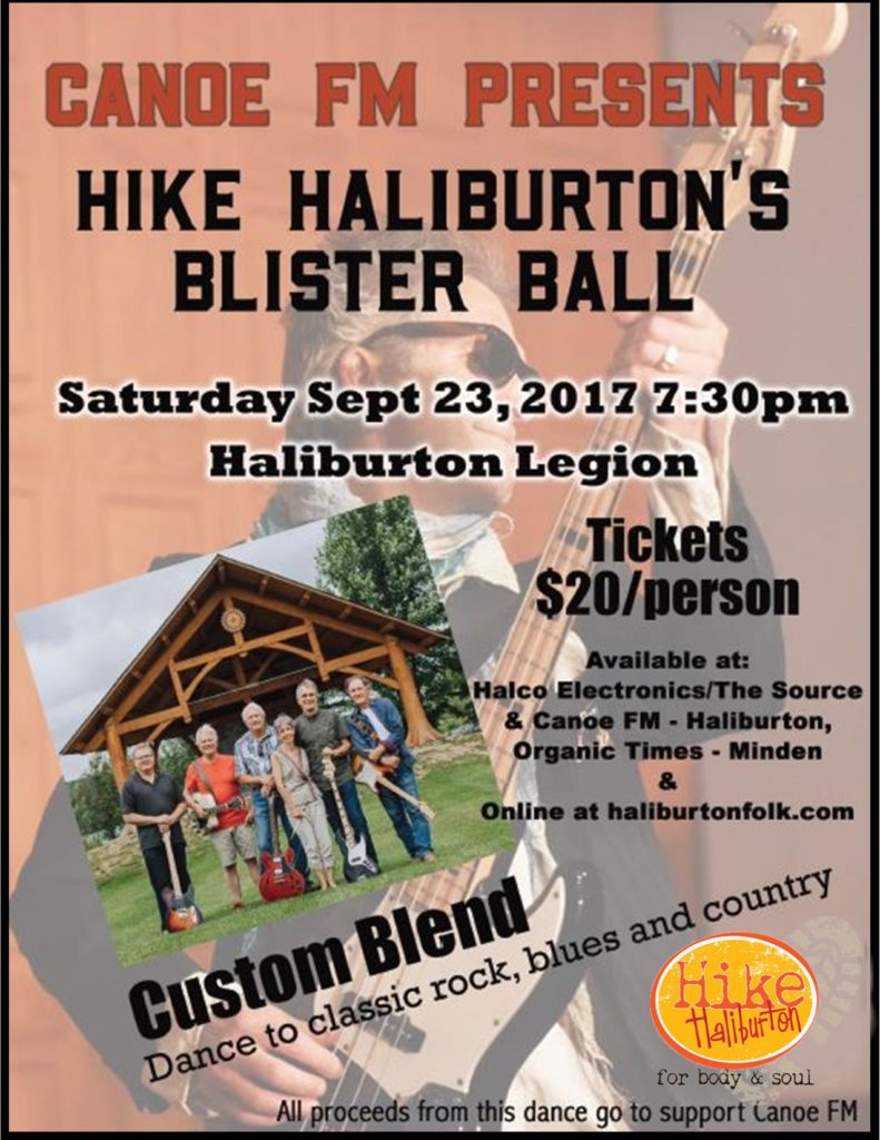 Canoe FM Presents Hike Haliburton's Blister Ball with Custom Blend at the Haliburton Legion @ Haliburotn Legion | Haliburton | Ontario | Canada