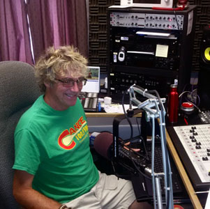 George Wynott dropped into Canoe FM during the Radiothon on July 14th and did a station promo with Ron Murphy