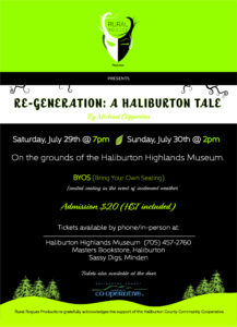 Re-Generation: A Haliburton Tale at the Haliburton Highlands Museum @ Haliburton Highlands Museum | Haliburton | Ontario | Canada