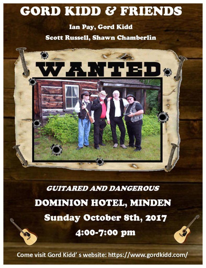 Gord Kidd & Friends at the Dominion Hotel @ Dominion Hotel | Minden | Ontario | Canada