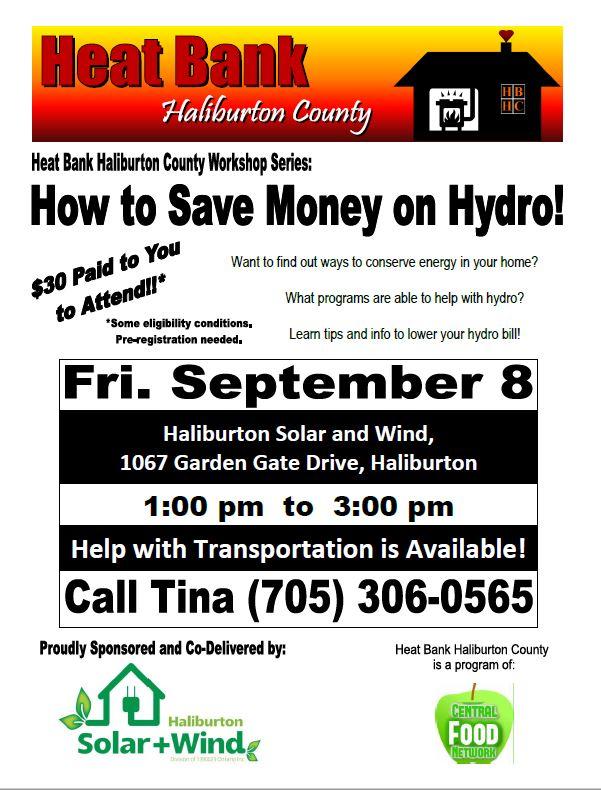 """How to Save Money on Hydro""  Workshop @ Haliburton Solar & Wind | Ontario | Canada"
