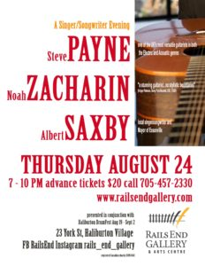 Steve Payne, Noah Zacharin, Albert Saxby at Rails End @ Rails End Gallery and Arts Centre | Haliburton | Ontario | Canada