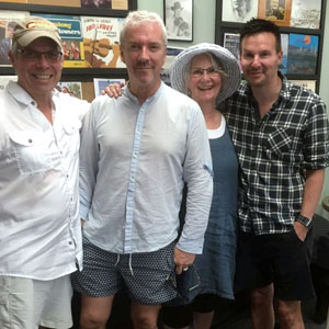 Community Radio is really incredible. We got a call this morning from Dubai- asking us if we could record a voice over with Colin and Justin for a show being filmed in Australia and aired in Dubai. Of course we can help - Bob & Arlene Stiles came in and saved the day.