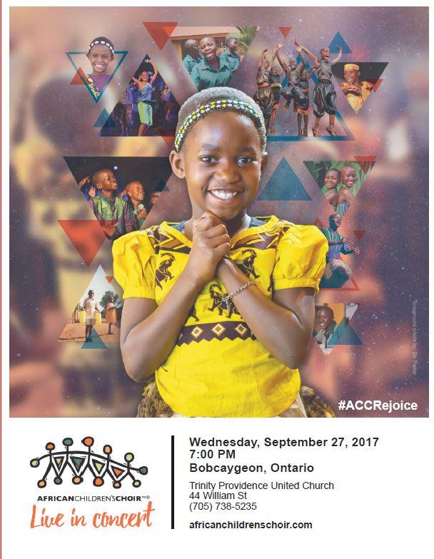 "African Children's Choir ""Live in Concert"" @ Trinity Providence United Church | Kawartha Lakes | Ontario | Canada"