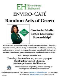 EH! Envirocafe @ Haliburton United Church | Haliburton | Ontario | Canada
