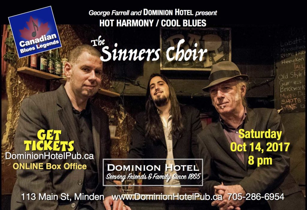 CANCELLED The Sinners Choir at the Dominion Hotel CANCELLED @ Dominion Hotel | Minden | Ontario | Canada