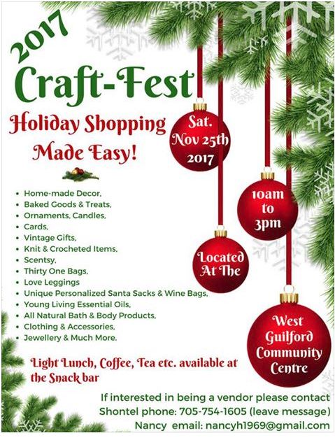 2017 Craft-Fest at the West Guilford Community Centre @ West Guilford Community Centre | West Guilford | Ontario | Canada
