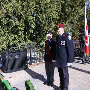Canoe FM's On-Air Host, Paul Vorvis laid the Canoe FM wreath at the Haliburton Legion's Remembrance Day Service