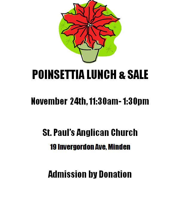 Poinsettia Lunch and Sale at St. Paul's Anglican Church @ St. Paul Anglican Church | Toronto | Ontario | Canada