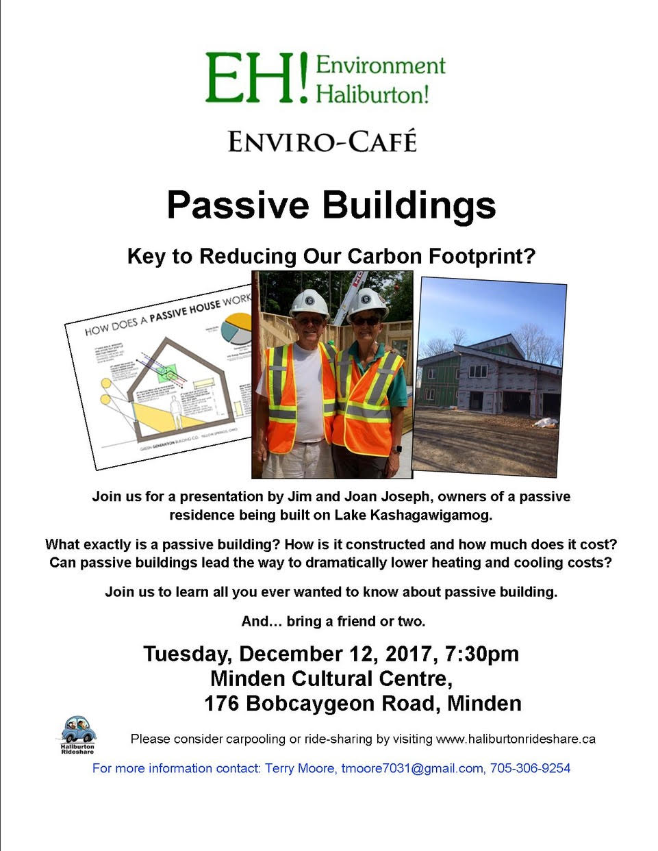 "EH! Environment Haliburton- Enviro-Cafe ""Passive Buildings-Key to reducing our carbon footprint"" @ Minden Hills Cultural Centre | Minden | Ontario | Canada"