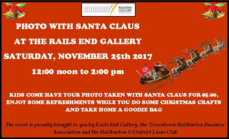 Photo with Santa Claus at Rails End Gallery @ Rails End Gallery | Haliburton | Ontario | Canada