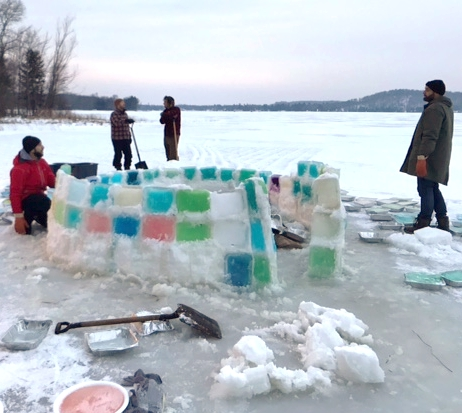 What does one do on their 40th birthday? A Canoe FM listener, Peter Finlin emailed Canoe FM with photos of his son celebrating his 40th birthday on Maple Lake by building an igloo with his friends.