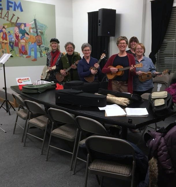 Rail End Gallery's Uke Ladies in the Malcolm MacLean Radio Hall - every Thursday night!!!!