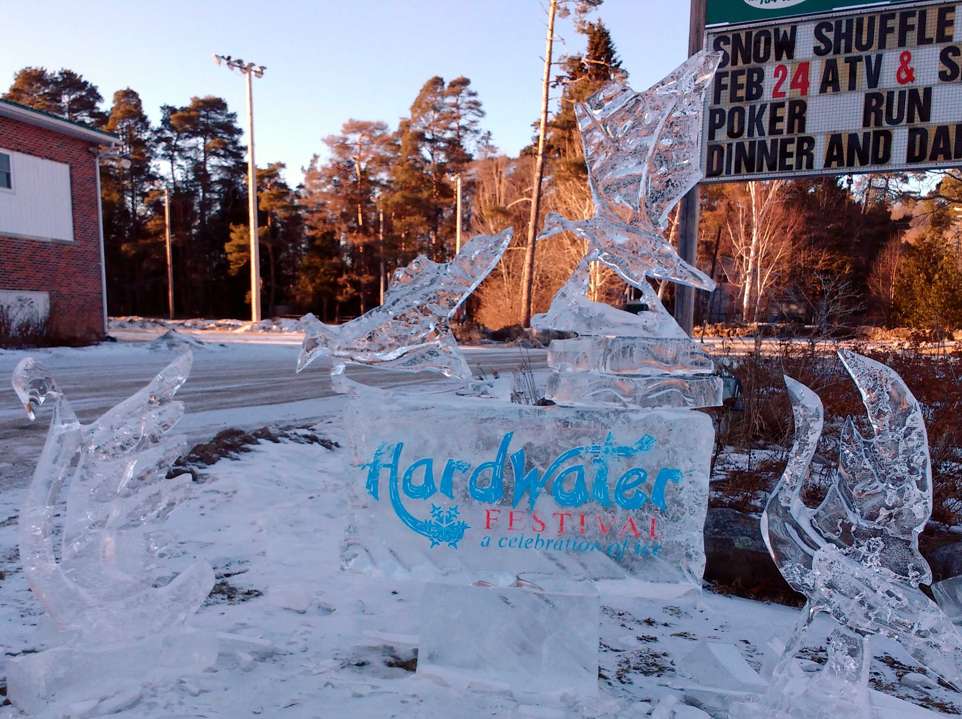 Canoe FM listener, Margo Ross shared her photo of the ice carving sculpture at West Guilford at the Hardwater Festival 2018