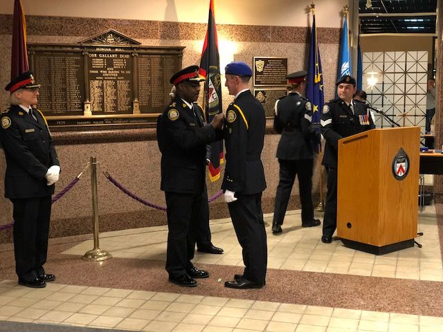 Canoe FM's Board of Director Paul Vorvis received the   Canadian Peacekeeping Service Medal, presented by Chief Mark Saunders on February 15, 2018