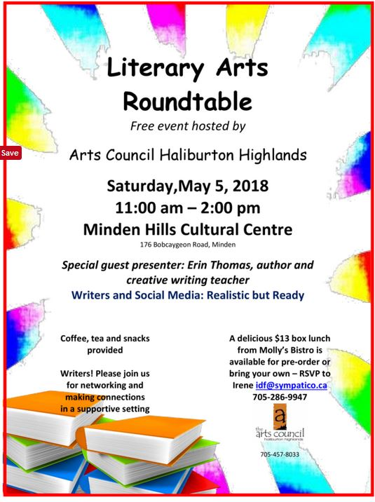 Literary Arts Roundtable @ Minden Hills Cultural Centre | Minden | Ontario | Canada