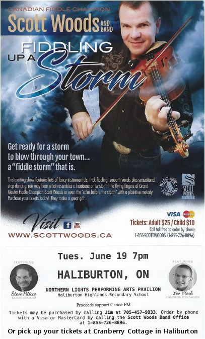 "Scott Woods and Band ""Fiddling Up A Storm"" at the Northern Lights Performing Arts Pavillion @ Northern Lights Performing Arts Pavilion 