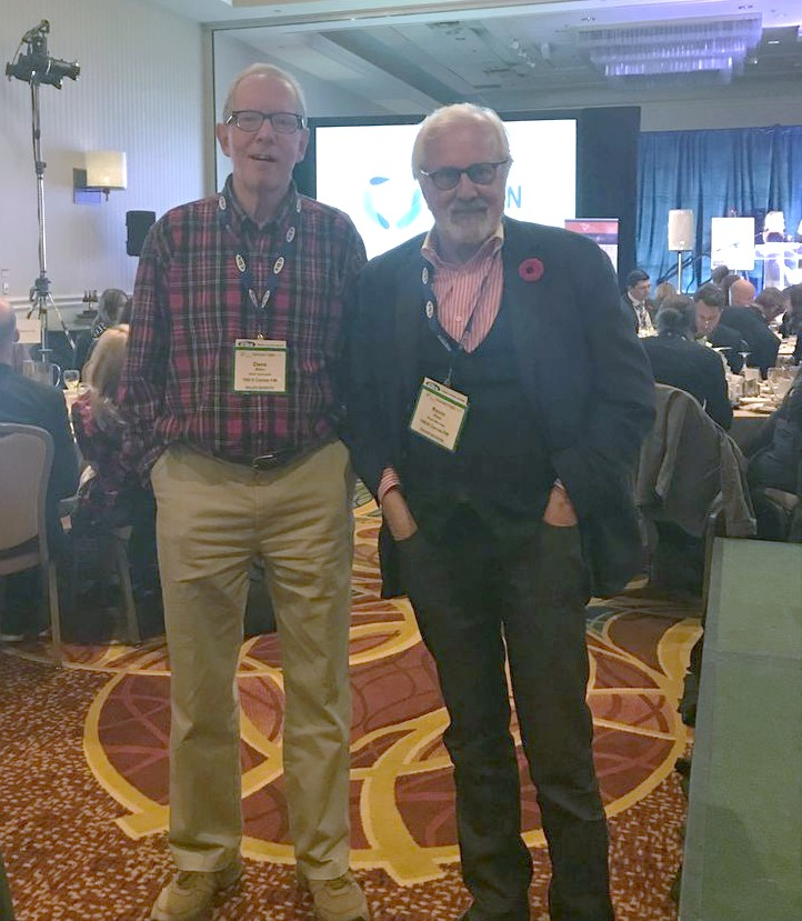 Canoe FM Board of Director, Kevin Shea and Sales Specialist, Dave Allen attending the Ontario Association of Broadcasting Convention in Toronto.