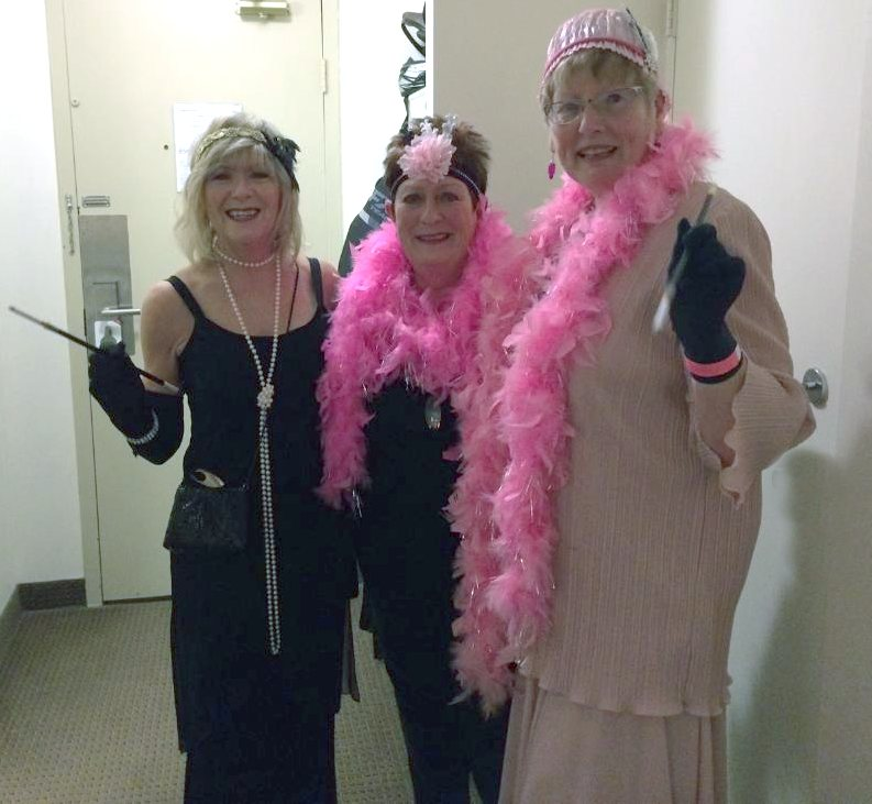 CanoeFM listeners, Paulette Lee & Margo Ross and Canoe FM on air host, Cathy Mac attended the 21st Annual Kelly Shires Breast Cancer Snow Run fundraiser in Huntsville on Jan 31-Feb 2, 2019. The theme of the Gala this year was the Roaring 20's