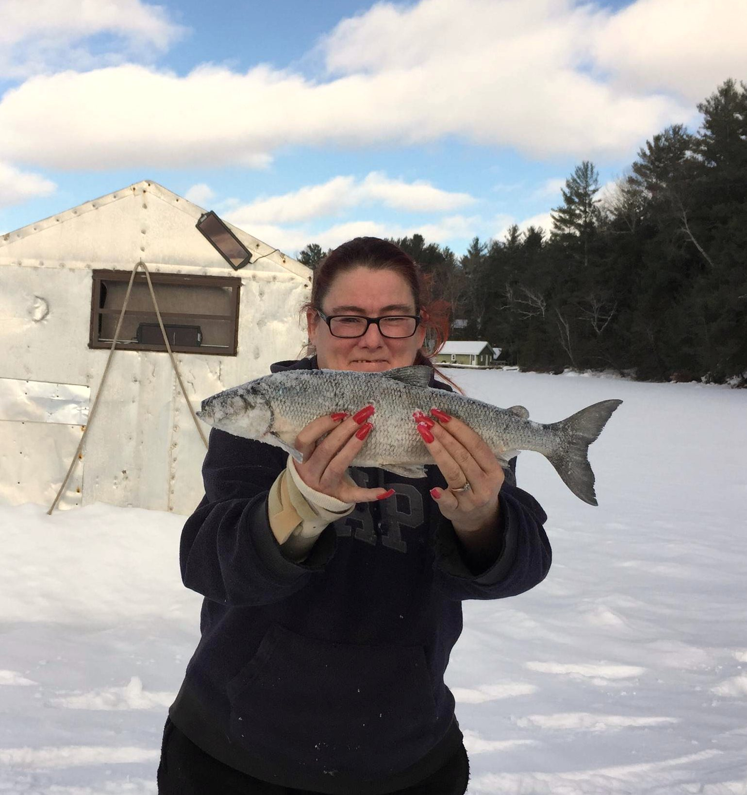 "A CanoeFM listener caught this big fish while listening to Cathy Mac on Wednesday on the ""After Nine"" show."
