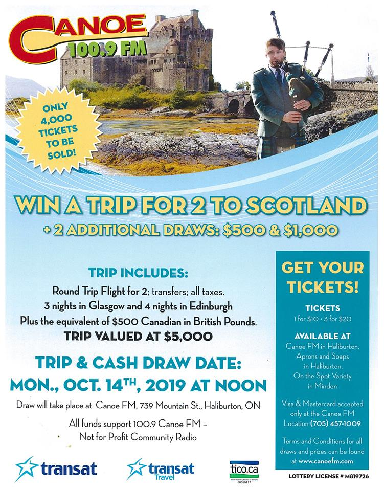 You can win a trip for 2 to Scotland.  Have you picked up your tickets yet.