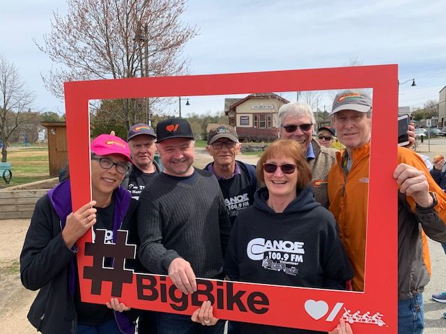 On May 16th, 2018, the Canoe FM Team was out on the Heart & Stroke Big Red Bike.
