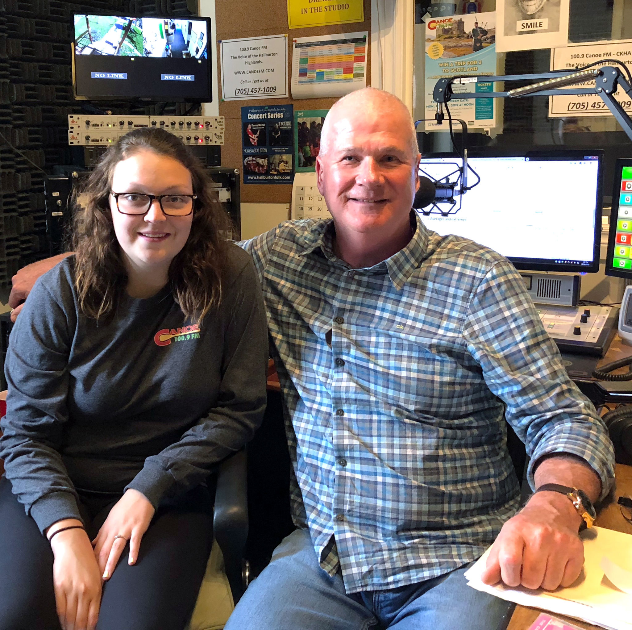 Megan Secord with On-Air Host John Tittel