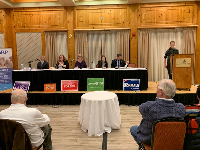 Canoe FM's On Air Host and BOD, Paul Vorvis send in photos from the All Candidates Debate at the Pinestone Resort of October 9, 2019