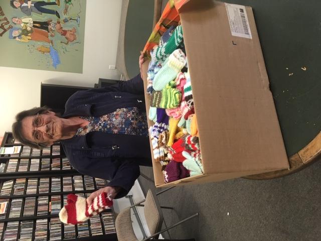 Gayle Scott loves knitting