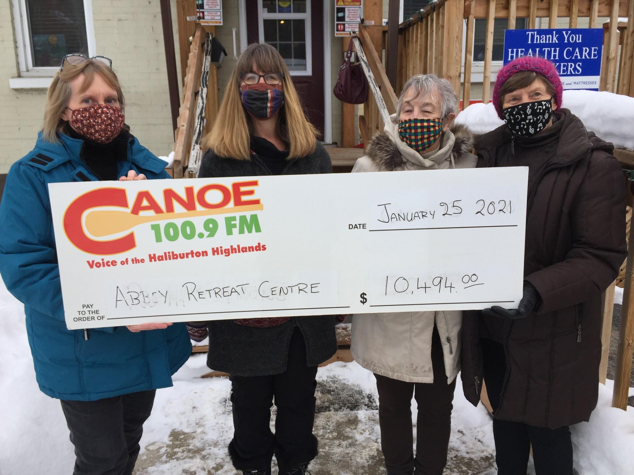 Cheque Presentation to Abbey Retreat Centre – Radio Bingo Funds