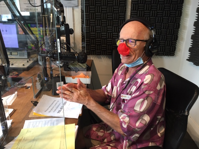 Radiothon – Chair Tim Hagarty having a great time