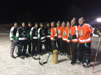 One of the Pond Hockey Championship teams 2017